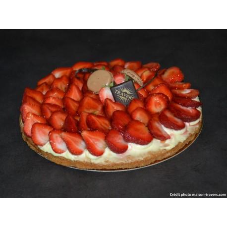 Sablée fraise 8 parts