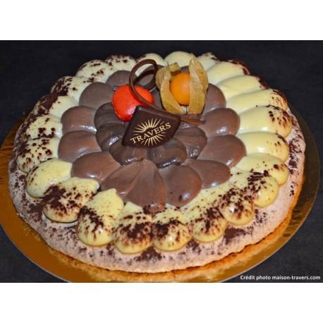 Macaronade 3 chocolats 8 parts