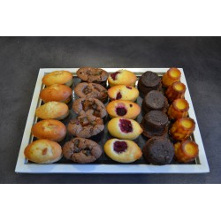 Plateau de 24 mini gâteaux
