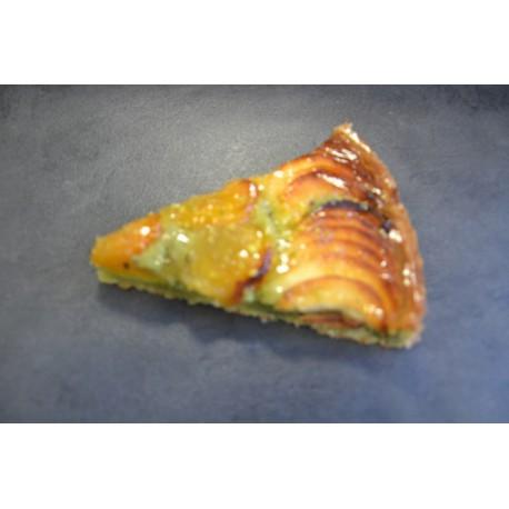Tarte pomme/abricot/pistache
